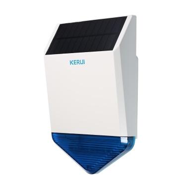KERUI  Wireless 433HMz Solar Powered Strobe Siren