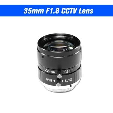 35mm Objektiv F1.8 CS Halterung 5,0 Megapixel 17,5 grad Objektiv Infrarot Nachtsicht Für CCTV Überwachungskamera Industrie objektiv