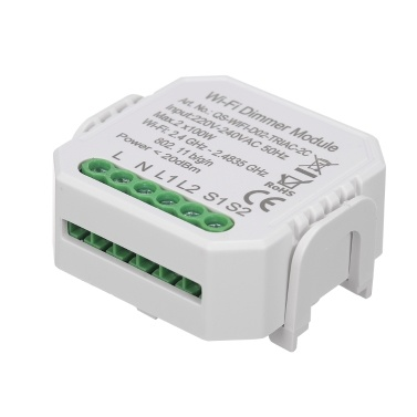 2 Gang DIY Mini WiFi Dimmer Modul Smart Light Triac Dimmer Breaker Controller