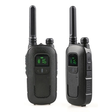 POFUNG T12 2PCS Mini Walkie Talkie 446.00625- 446.09375 MHZ 16CH Portable Handheld Transceiver Interphone VOX Function LED Flashlight Two Way Radio
