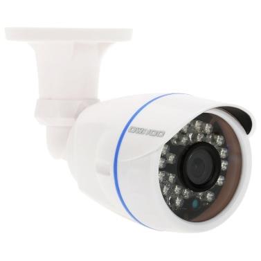 Cámara OWSOO® HD 960P megapíxeles nube IP CCTV seguridad de la red exterior de apoyo cámara de bala cubierta P2P Android / iOS Onvif de tiempo del IR-CUT filtro de infrarrojos de visión nocturna de detección de movimiento de alarma por correo electrónico explorador Ver los 24 LEDs