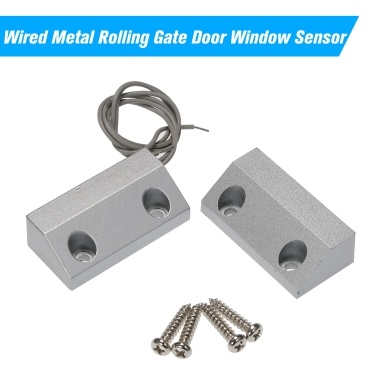 Wired Metal Rolling Gate Door Window Sensor Magnetic Contacts Alarm Reed Switch Detector for Alarm Access Control System