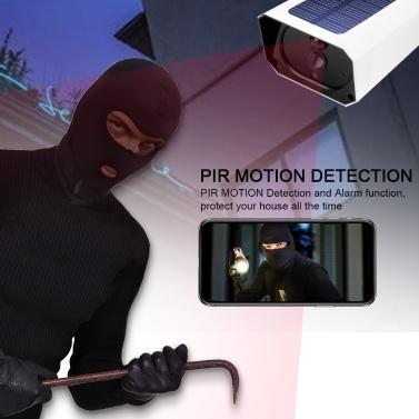 DC08 WIFI Solarkamera 1080P Wireless Minitor Plug-in Kostenlos IP67 Nachtsicht Echtzeit-Sprachsprechanlage Bewegungserkennungsalarm