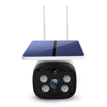 DC12 HD Solar Wifi Camera 1080PWireless Minitor Plug-in Free IP65 Night Vision Real Time Voice Intercom Motion Detection Alarm
