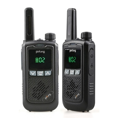 BAOFENG F17 2PCS Mini Walkie Talkie 446.00625- 446.09375 MHz 16CH Portable Handheld Transceiver Interphone VOX Function LED Flashlight FM Two Way Radio