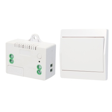 433HMz RF Wireless Remote Control Switch Module and Self-powered Push Button Wall Light Switch Remote Controller 1527 with Stickers Free Position Flexible