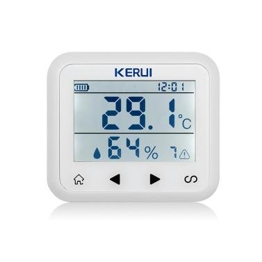 KERUI TD32 LED Display Adjustable Temperature And Humidity Alarm Sensor