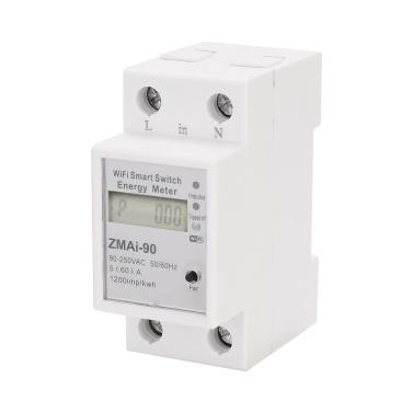Einphasige Din Rail Wifi Intelligente Energiezähler Stromverbrauch Kwh Meter Wattmeter Unterstützung Smartlife / Tuya App Control