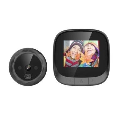 """2.4 """"TFT Digital Mirilla Visor Puerta Ojo Timbre Cámara IR Visión Nocturna Toma de Fotos para la Seguridad del Hogar"""