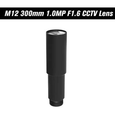 "HD 1,0 Megapixel 300 mm CCTV MTV-Platine Objektiv 1/3 ""Bildsensor Lange Betrachtungsdistanz M12 * P0.5 Mount Horizontal View Angle 1.15D Manueller Fokus"