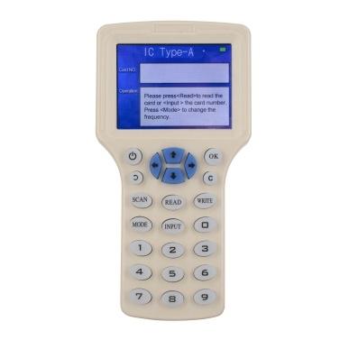 Intelligent 10 Frequency RFID Reader Writer Copier