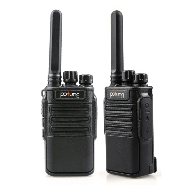 POFUNG F8 2PCS Mini Walkie Talkie 446.00625- 446.09375 MHz 16CH Portable Handheld Transceiver Interphone VOX Function LED Flashlight Two Way Radio