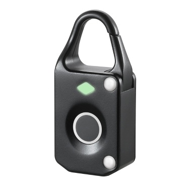 Fingerprint Lock Intelligent Keyless USB Charge Waterproof Anti-theft Security Door Luggage Lock Black