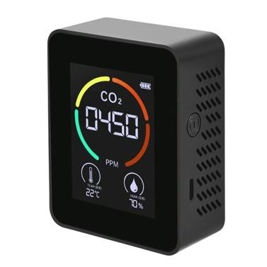 Monitor de Qualidade do Ar Detector de CO₂ Medidor de Temperatura e Umidade com Display LCD