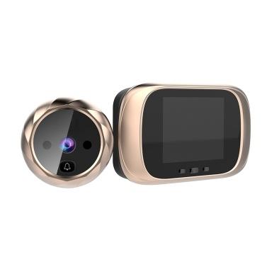 Visor digital da porta Visor da porta da câmera Campainha Tela LCD de 2,8 polegadas, visão noturna, fotos, monitoração digital da porta para segurança doméstica