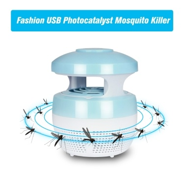 49% OFF USB Photocatalyst Mosquito Killer Lamp Insect Trap Light,limited offer $5.39