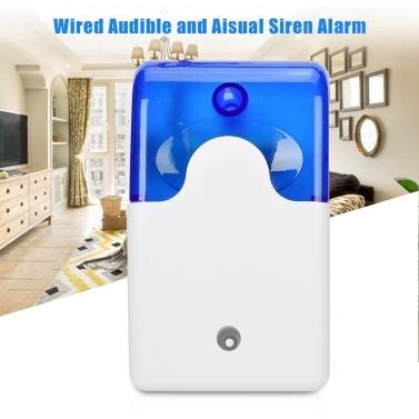 Mini Wired Strobe Sirene Sound Alarm Strobe Blinkende Rotlicht Sound Sirene für Home Security Schützen Alarm System 110dB