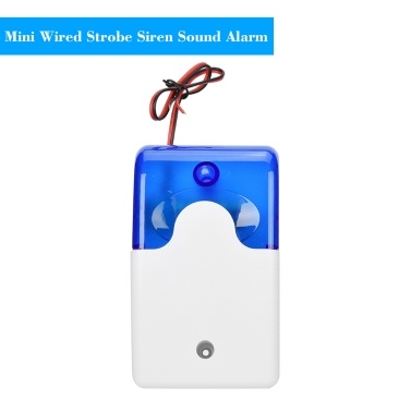 Mini Wired Strobe Siren Sound Alarm Strobe Flashing Red Light Sound Siren for Home Security Protect Alarm System 110dB