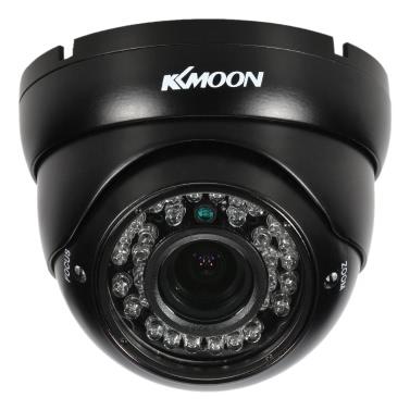 "KKmoon 1080P AHD Haube CCTV-Kamera 2.8 ~ 12mm Manuell Zoom Varifokusobjektiv 2.0MP 1/3 ""für Sony CMOS-IR-CUT 36 IR LED Nachtsicht IP66 wasserdichtes im Freiensicherheits-NTSC-System"