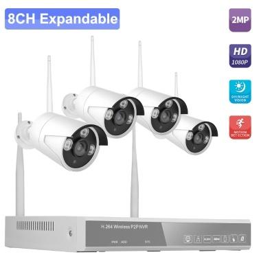 XF-1604M 8CH NVR + 4 Cameras Wireless NVR Kit