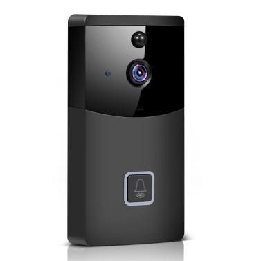 Timbre inalámbrico inteligente 2.4G WiFi, cámara de seguridad WiFi HD 1080P con audio bidireccional