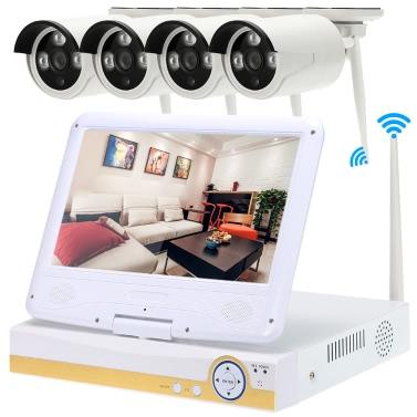 "OWSOO 10.1 ""4CH 720P HD WiFi Kit NVR con 4pcs 1.0MP cámara IP"