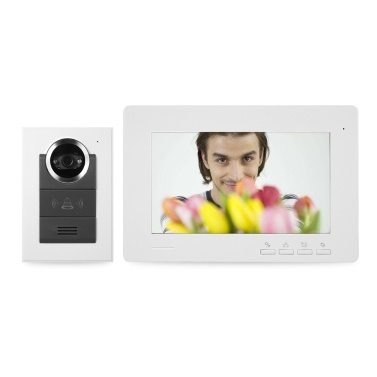 Wired Video Doorbell Indoor Monitor IR-CUT Rainproof Outdoor Camera