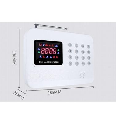 GSM-Alarmsystem mit digitaler LCD-Anzeige Drahtloses Haussicherungssystem mit Fernbedienung