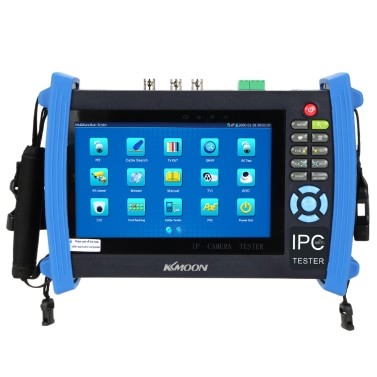 KKmoon 7inch CCTV Onvif IP Camera Tester Touch Screen Monitor AHD/TVI/CVI HD 1080P/PTZ/POE/WIFI/FTP Server/IP Scan/Port Flashing/DHCP IPC-8600ADH