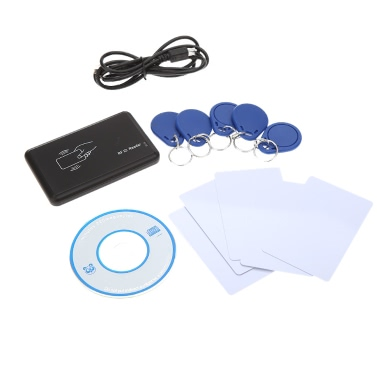 Contactless 14443A Card Encoder IC Card Reader Writer 5pcs Cards 5pcs Key Fob USB Interface 13.56MHZ RFID