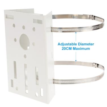 Metal Pole/Column Mount Loop Bracket 20CM PTZ Corner for CCTV Security Camera