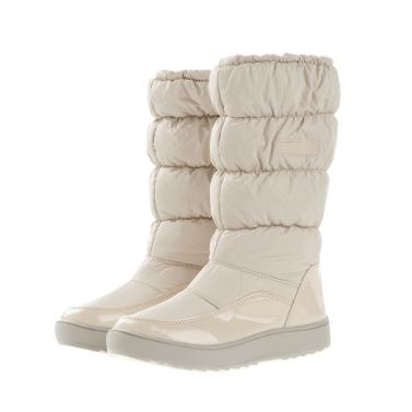 Winter Damen Stiefel Japanned Leder wasserdicht Snow Schuhe flach Warm gefütterte