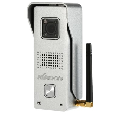 KKmoon® 0.3MP Wireless WiFi-Türsprechanlage von Visual Intercom Türklingel Unterstützung Aufzeichnung Snapshot Entsperren Sperre Zeitverzögerung Hotspot P2P Android / iOS APP Infrarot-Nachtsicht-Regendicht Motion Detection Alarm für Hauptüberwachung