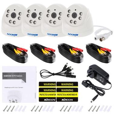 KKmoon 4 * 720P 1500TVL AHD Indoor Doom CCTV-Kamera + 4 * 60ft Surveillance Kabel Unterstützung IR-CUT Nachtsicht 6pcs Array Infrarotlampen 1/4