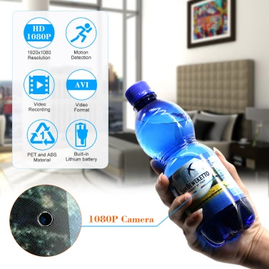 1080P Spy Hidden Bottle Camera