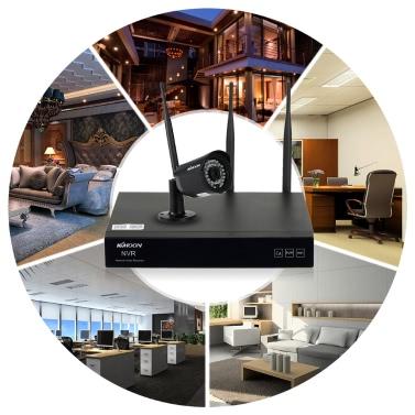 KKmoon 4 Kanal HD 720P Wireless WiFi NVR-Kamerasystem