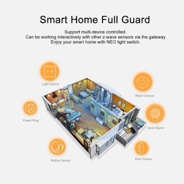 NEO Coolcam Z-wave Wall Light Switch 2CH Gang Z Wave Wireless Smart Remote  Control EU Light Switch Home Automation