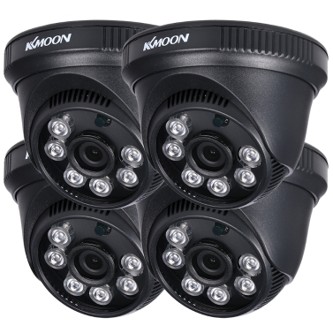KKmoon 4 * 1080P AHD Haube IR CCTV-Kamera + 4 * 60ft Überwachung Kabel Unterstützung IR-CUT Nachtsicht 6 stücke Array Infrarot Lampen 1 / 2,9 '' CMOS für Home Security PAL System