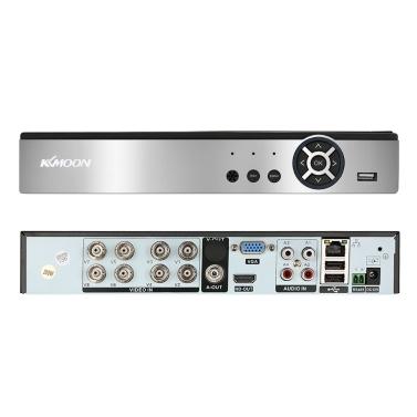 KKmoon 8CH 1080 P H.264 P2P Netzwerk DVR CCTV Sicherheit Telefon Control Bewegungserkennung für Überwachungskamera
