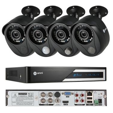 Sistema de cámara CCTV Anni 4CH 1080N multifuncional con sistema de alarma