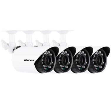 KKmoon® 4 teile / los 1500TVL Kameras CMOS 3,6mm Wetterfeste IP66 IR-CUT Filter Tag / Nacht Outdoor / Indoor Home Security CCTV Bullet Kamera Kit