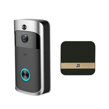 Smart Wireless WiFi Security DoorBell Video Door Phone con plug-in carillón de grabación visual