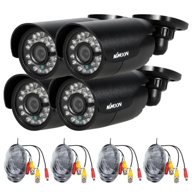 KKmoon 4pcs 720P AHD Kugel Kamera + 4 * 60ft Überwachungskabel