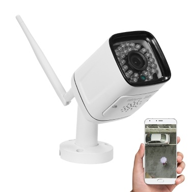 720P HD Bullet  1.0MP 30pcs Infrared LED Lights Weatherproof Wireless IP Camera