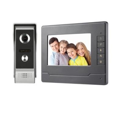 7 Zoll TFT-LCD-Farbbildschirm Video-Türsprechanlage