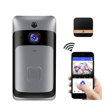 Smart Home WiFi Doorbell 1080P HD Security Camera with Two-Way Audio