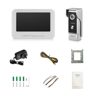 7-Zoll-TFT-LCD-Farbdisplay Video-Türsprechanlage Türklingel