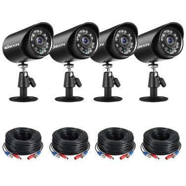 4pcs Full HD 1080P 2MP Security Analog Cameras