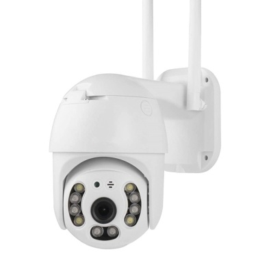 Outdoor Wireless WiFi Security Camera 360° View 1080P WiFi Home Surveillance Camera with Pan/Tilt, Color Night Vision, 2-Way Audio, Motion Detection, Tuya Smart APP Remote Access, IP66 Weatherproof
