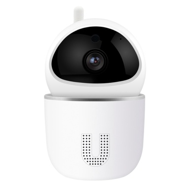 1080P Wi-Fi Home Security Camera Indoor Surveillance IP Camera with Sound Detection, Motion Detection and Tracking, Two-Way Audio, Night Vision, 360-degree, TUYA APP